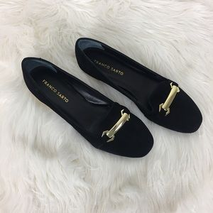 Franco Sarto Suede Flat Shoes Size 8.5